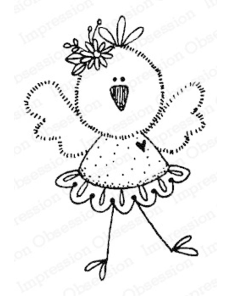 Impression Obsession Chickie Tutu Cling Stamp