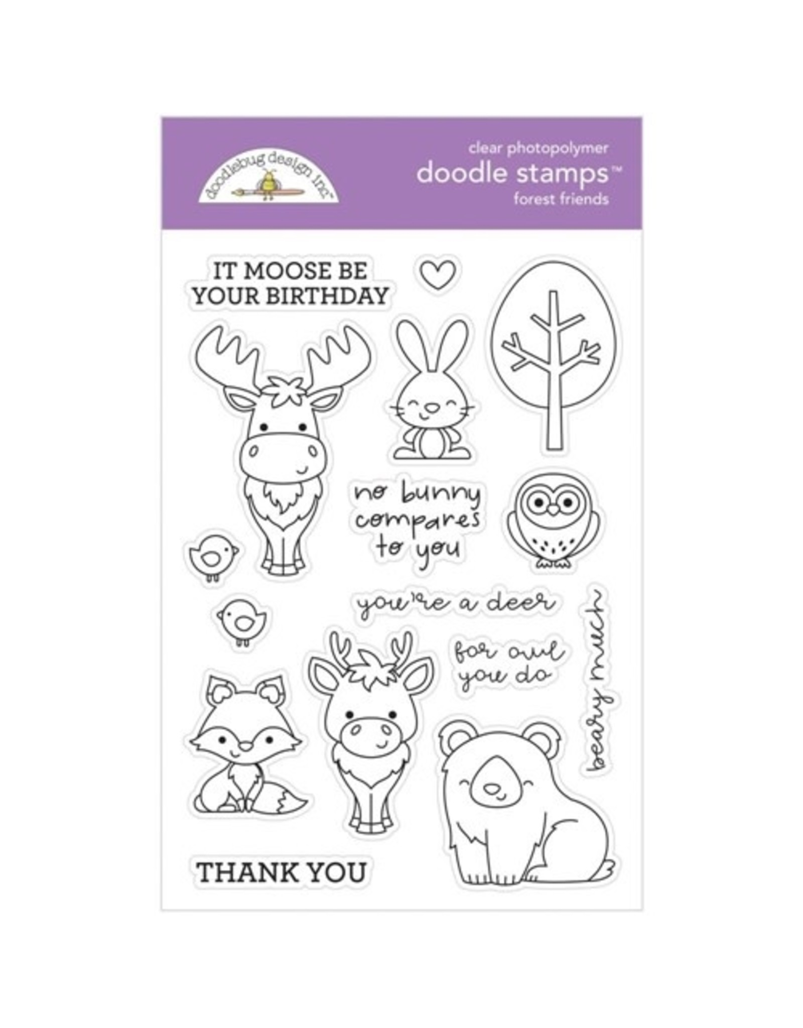 Doodlebug Design Inc. Forest Friends - Clear Stamp Set