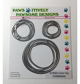 Paws-Itively Pawsome Designs Scribble Circle Trio - Die