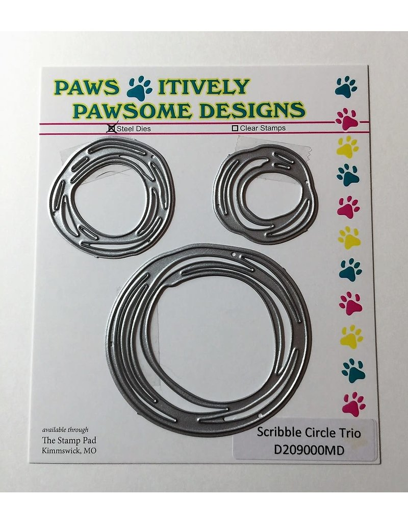 Paws-Itively Pawsome Designs Scribble Circle Trio