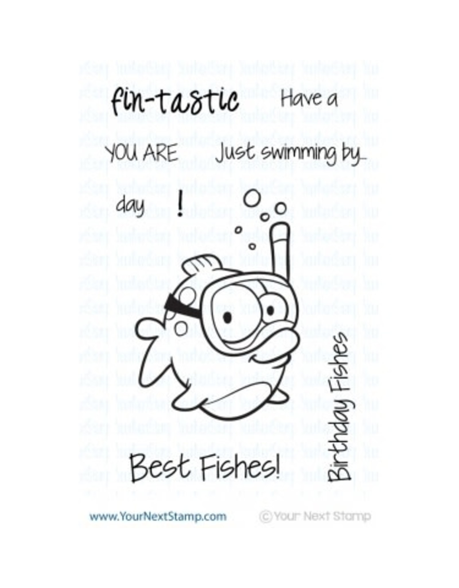 Your Next Stamp Snorkel Fun Fishy - Clear Stamp Set