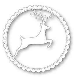Memory Box Reindeer Scalloped Circle Frame (25%)