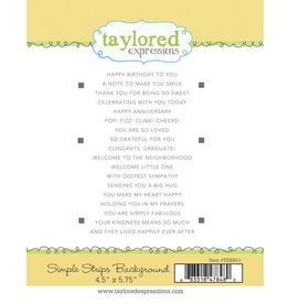 Taylored Expressions Background (Simple Strips) - Cling Stamp Set