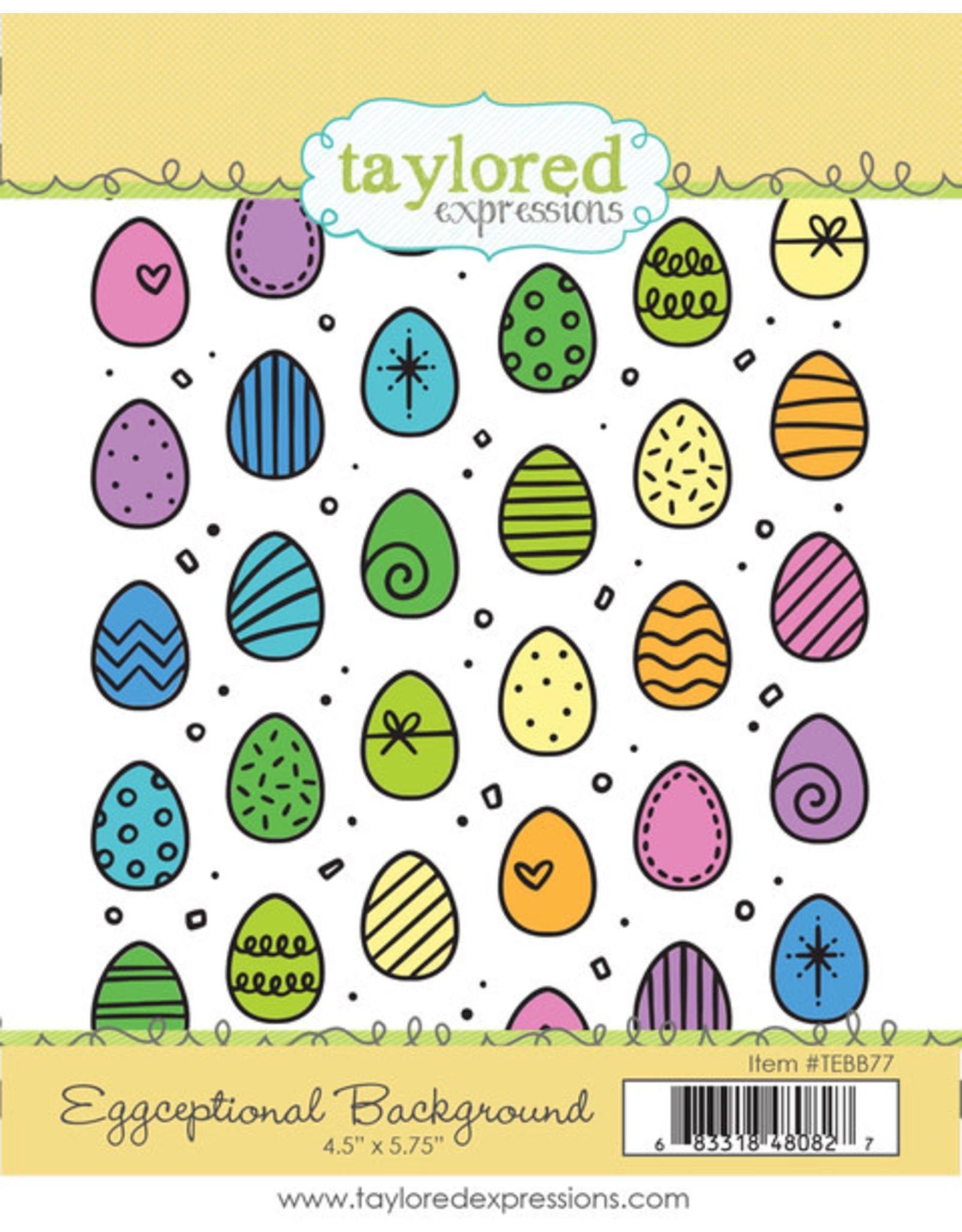 Eggceptional - Background Cling Stamp Set