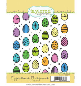 Taylored Expressions Eggceptional Background Stamp