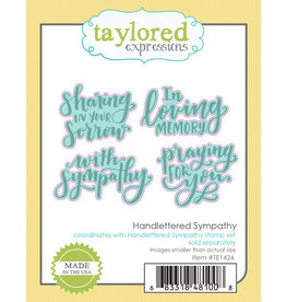 Taylored Expressions Handlettered Sympathy Die Set