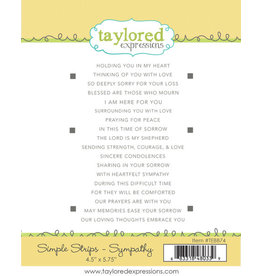 Taylored Expressions Simple Strips - Sympathy