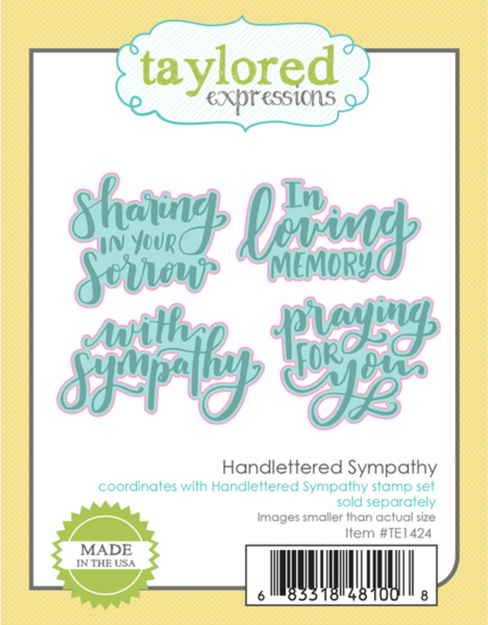 Taylored Expressions Handlettered Sympathy - Cling Stamp Set