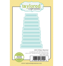 Taylored Expressions Mini Strips Backer - Die Set
