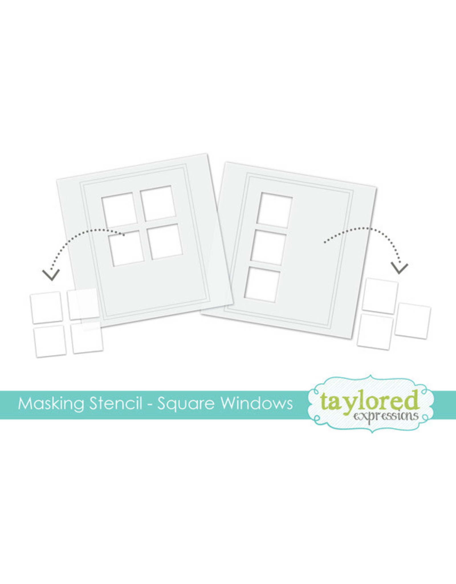 Taylored Expressions Square Windows - 6x6 Designer Masking Stencil
