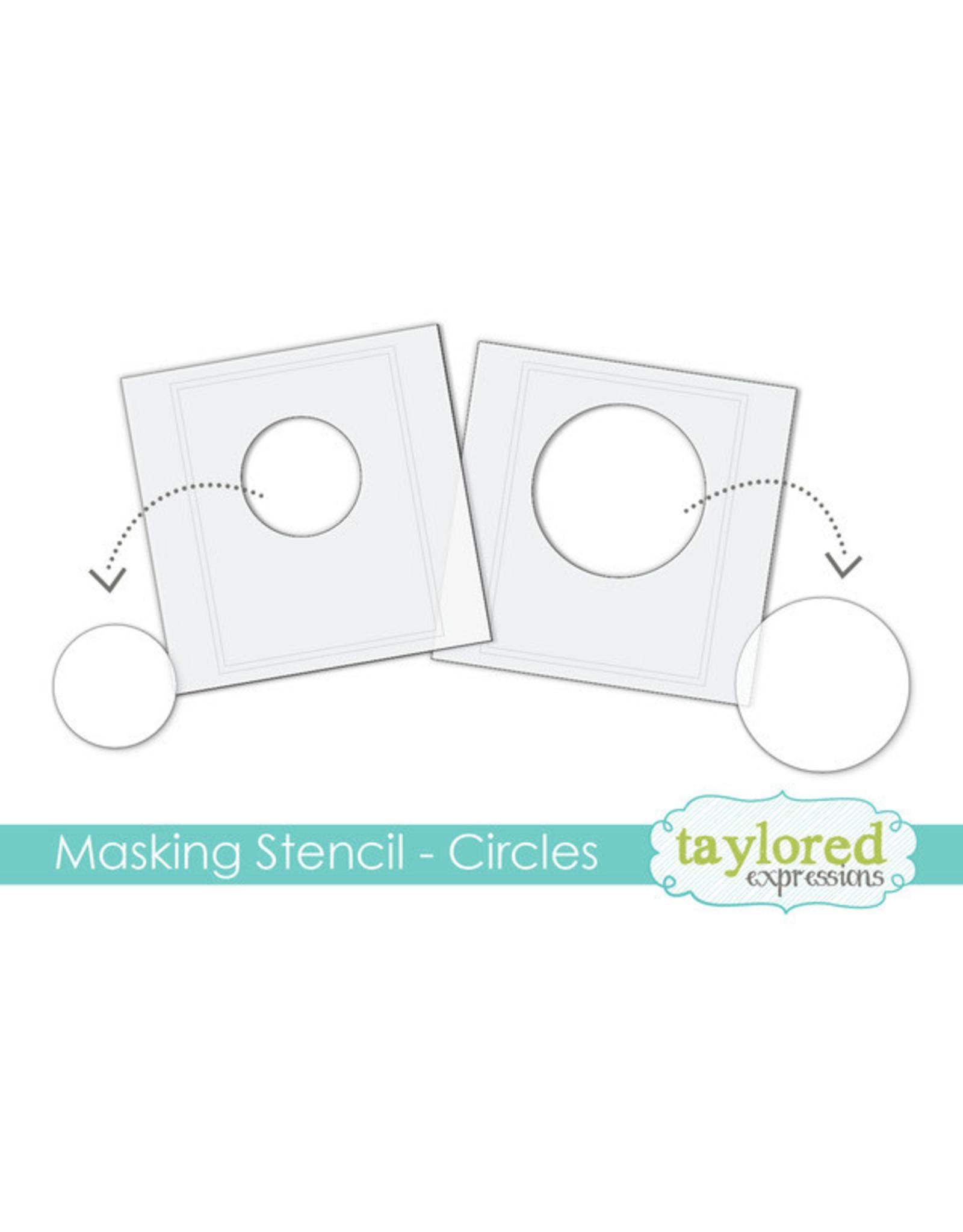 Taylored Expressions Circles - 6x6 Designer Masking Stencil