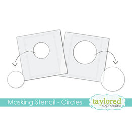 Taylored Expressions Circles - 6x6 Designer Masking Stencil