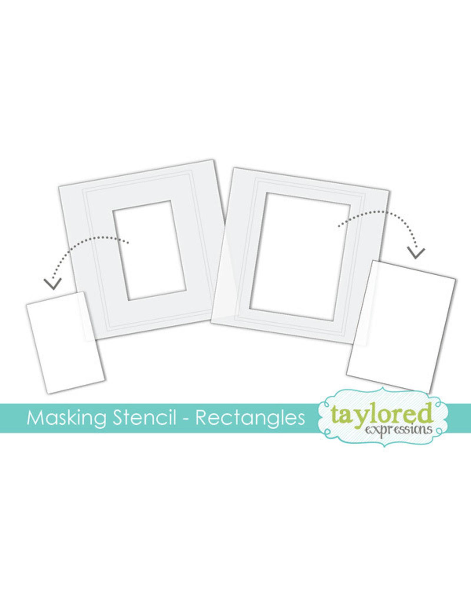 Taylored Expressions Rectangles - 6x6 Designer Masking Stencil