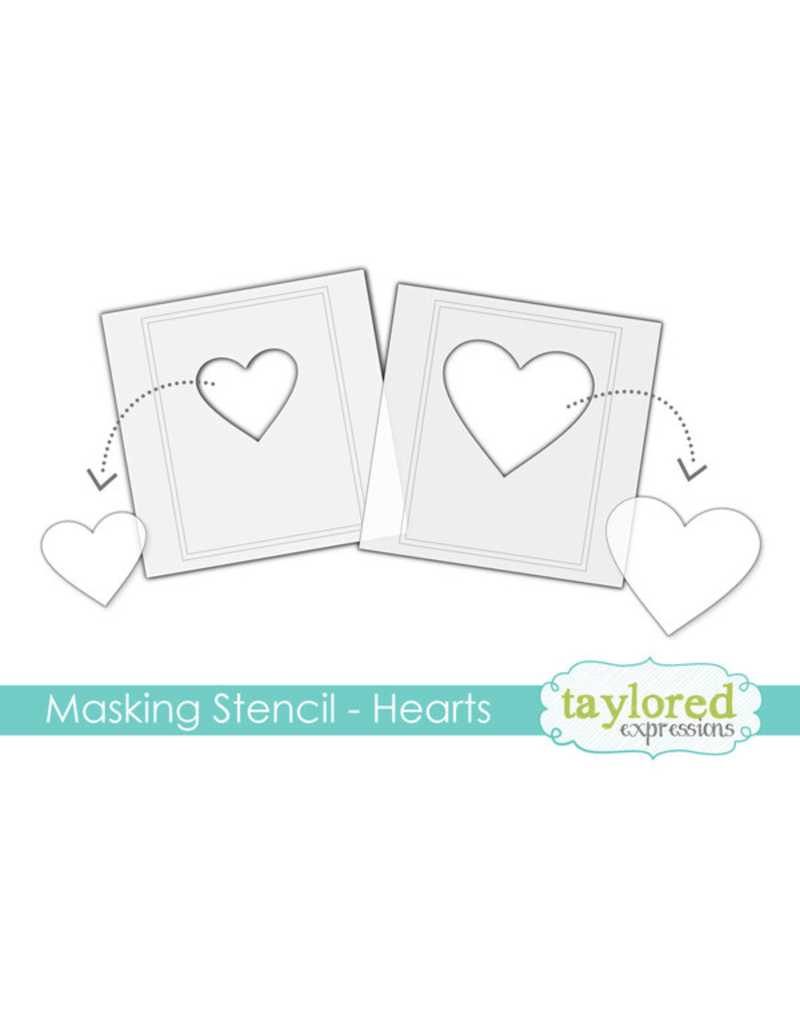 Taylored Expressions Hearts - 6x6 Designer Masking Stencil
