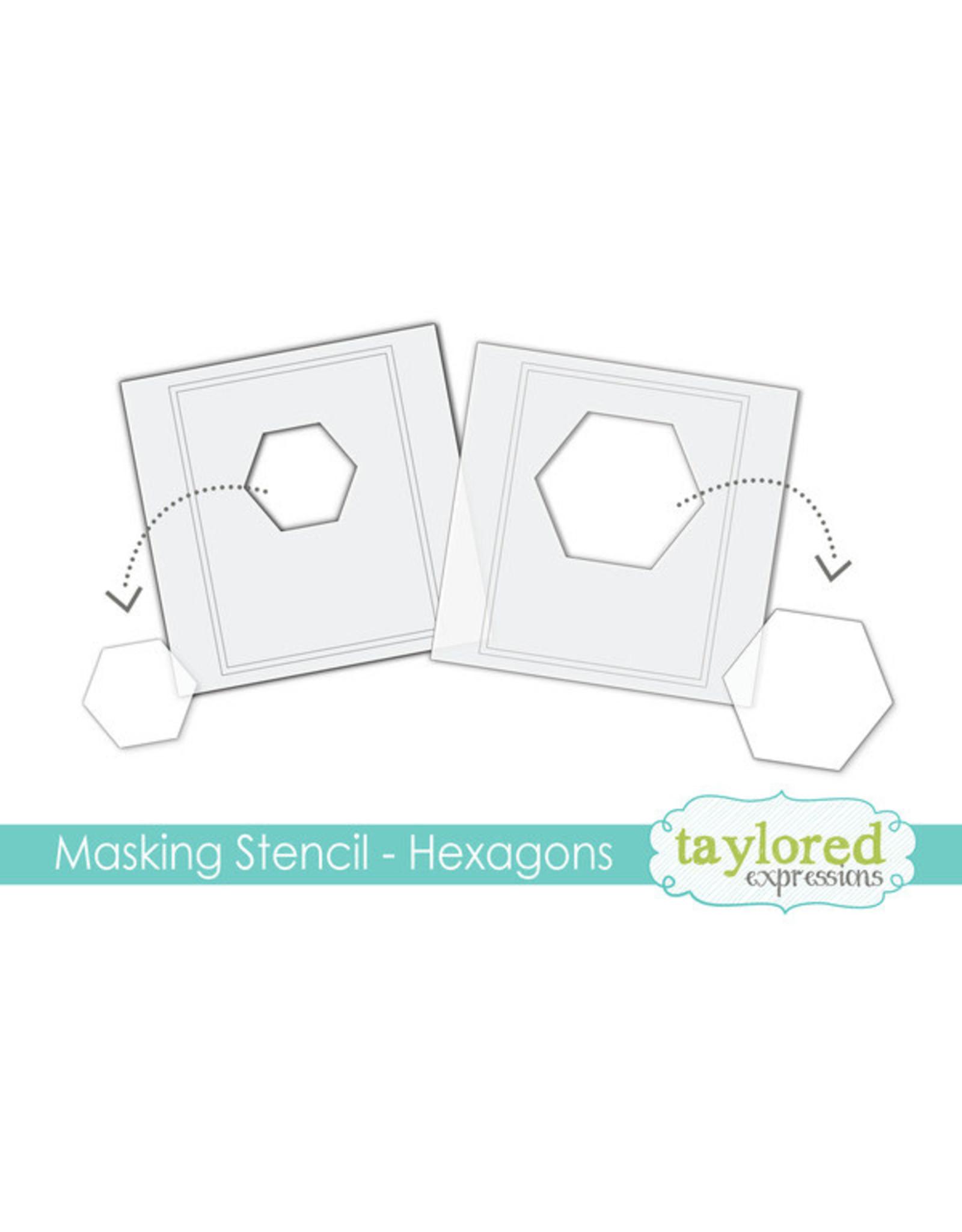 Taylored Expressions Hexagons - 6x6 Designer Masking Stencil