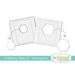 Hexagons - 6x6 Designer Masking Stencil