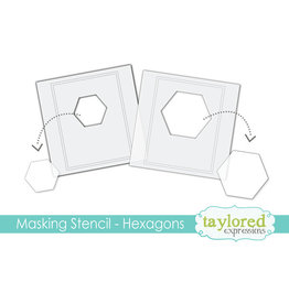 Taylored Expressions Hexagons - 6x6 Designer Masking Stencil