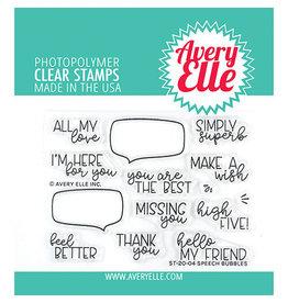 Avery Elle Speech Bubbles - Clear Stamp Set