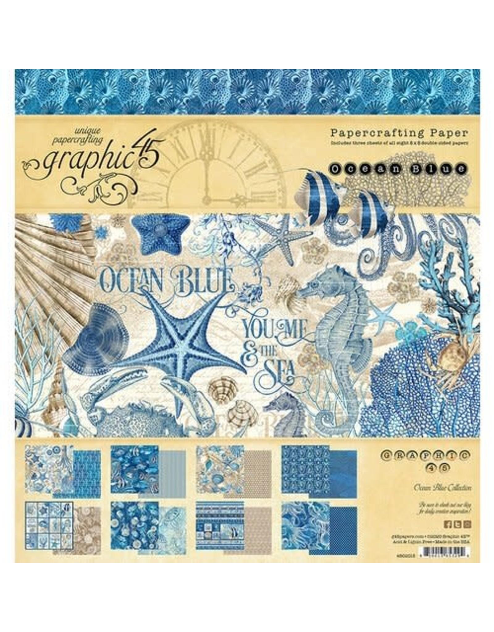 Graphic 45 Ocean Blue - 8x8 Paper Pad