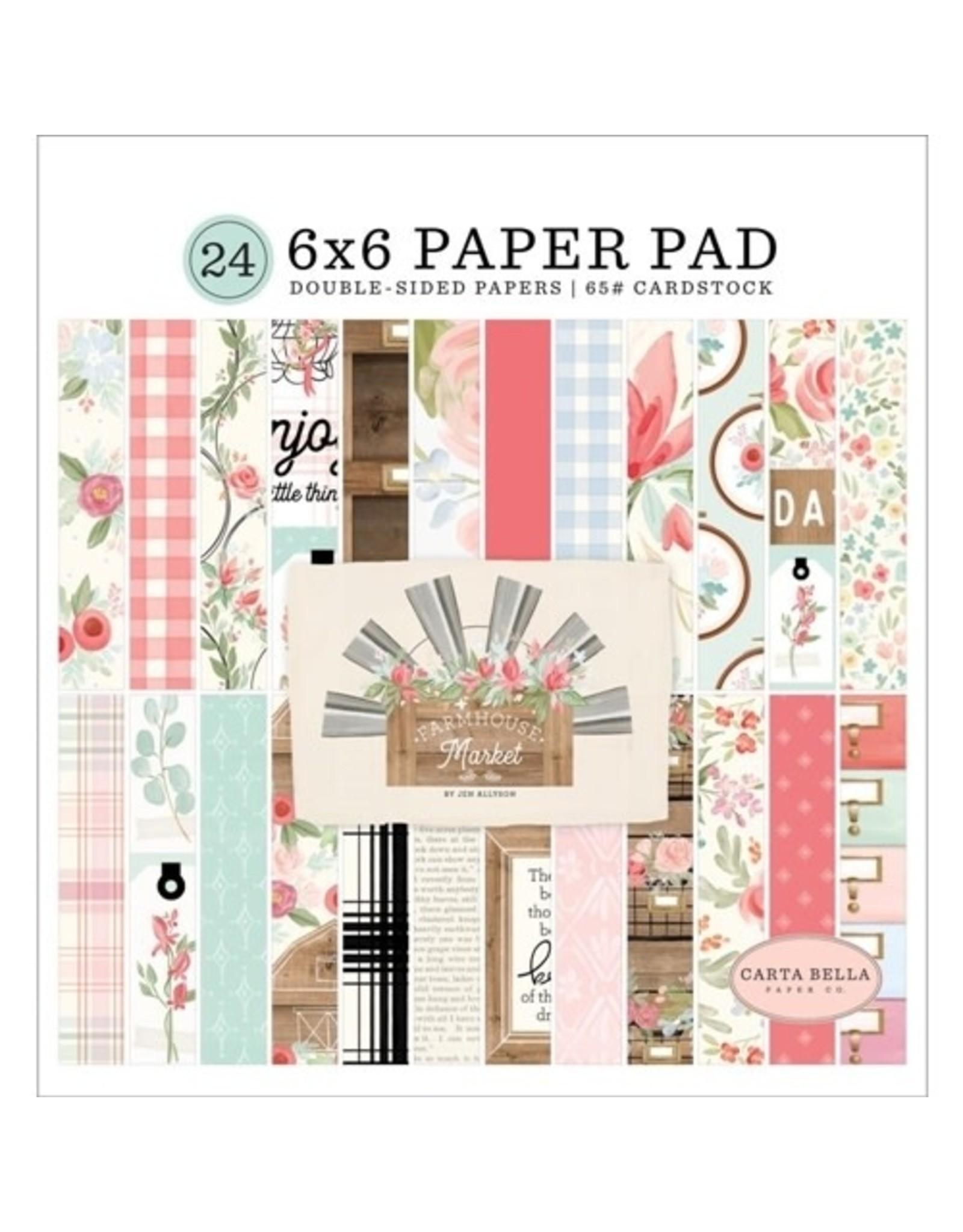 Carta Bella Paper Company, LLC Farmhouse Market - 6x6 Paper Pad