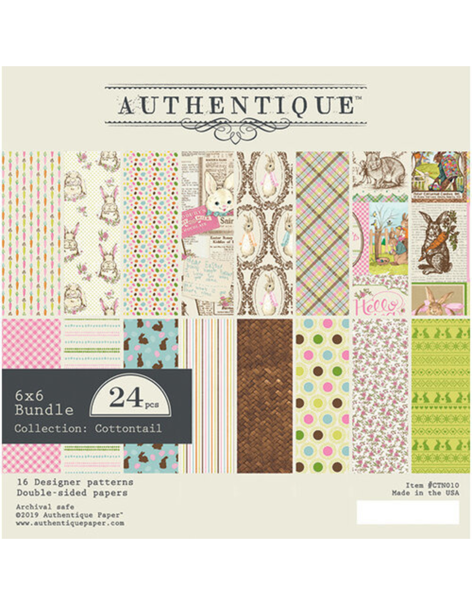 Authentique Cottontail - 6x6 Paper Bundle