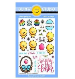 Sunny Studio Chickie Baby - Clear Stamp Set