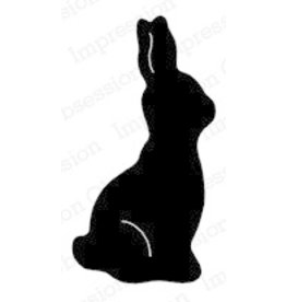 Impression Obsession Chocolate Bunny - Cling Stamp
