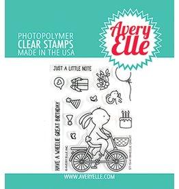 Avery Elle Wheelie Great - Clear Stamp Set