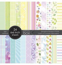 Memory Box Springtime Bouquet - 6x6 Paper Pad