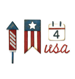 Ellison/Sizzix Americana - Sidekick Side-Order Thinlits - Die (25%)
