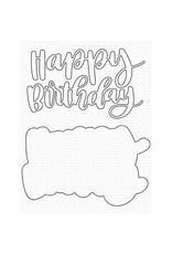 My Favorite Things Hand-Lettered Happy Birthday - Die
