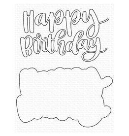 My Favorite Things Hand-Lettered Happy Birthday - Die
