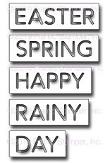 Frantic Stamper Inc Spring Words - Reverse-Cut Die Set