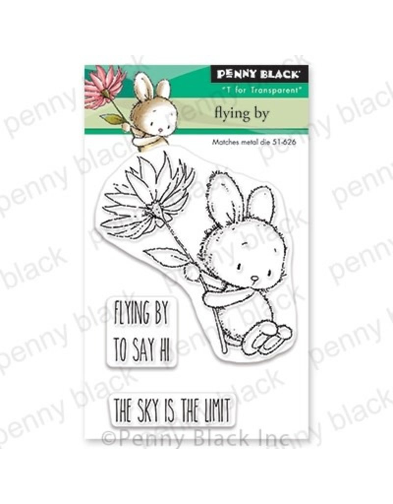 Penny Black Flying By - Clear Stamp Set