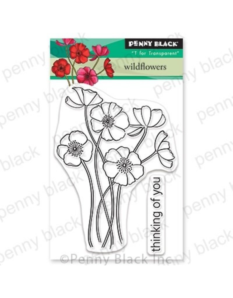 Penny Black Wildflowers - Clear Stamp Set