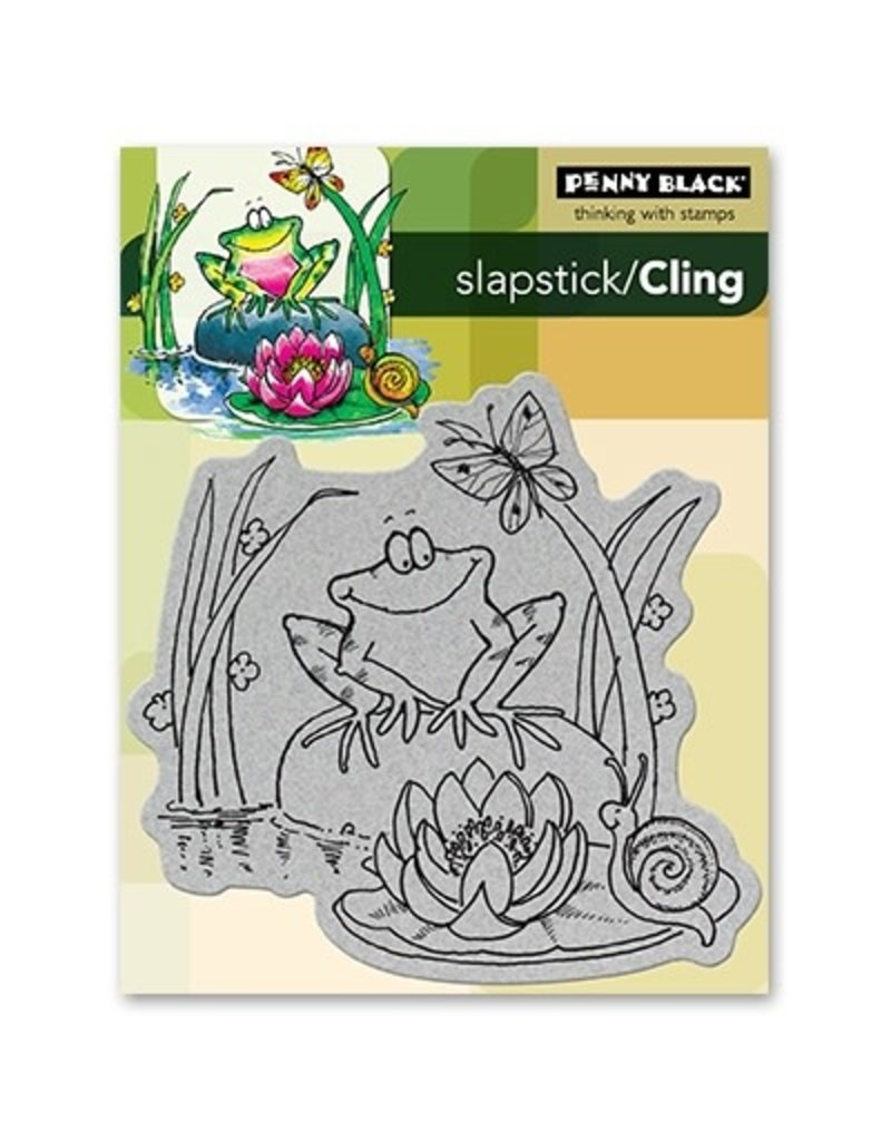 Penny Black Toadily Happy - Cling Stamp