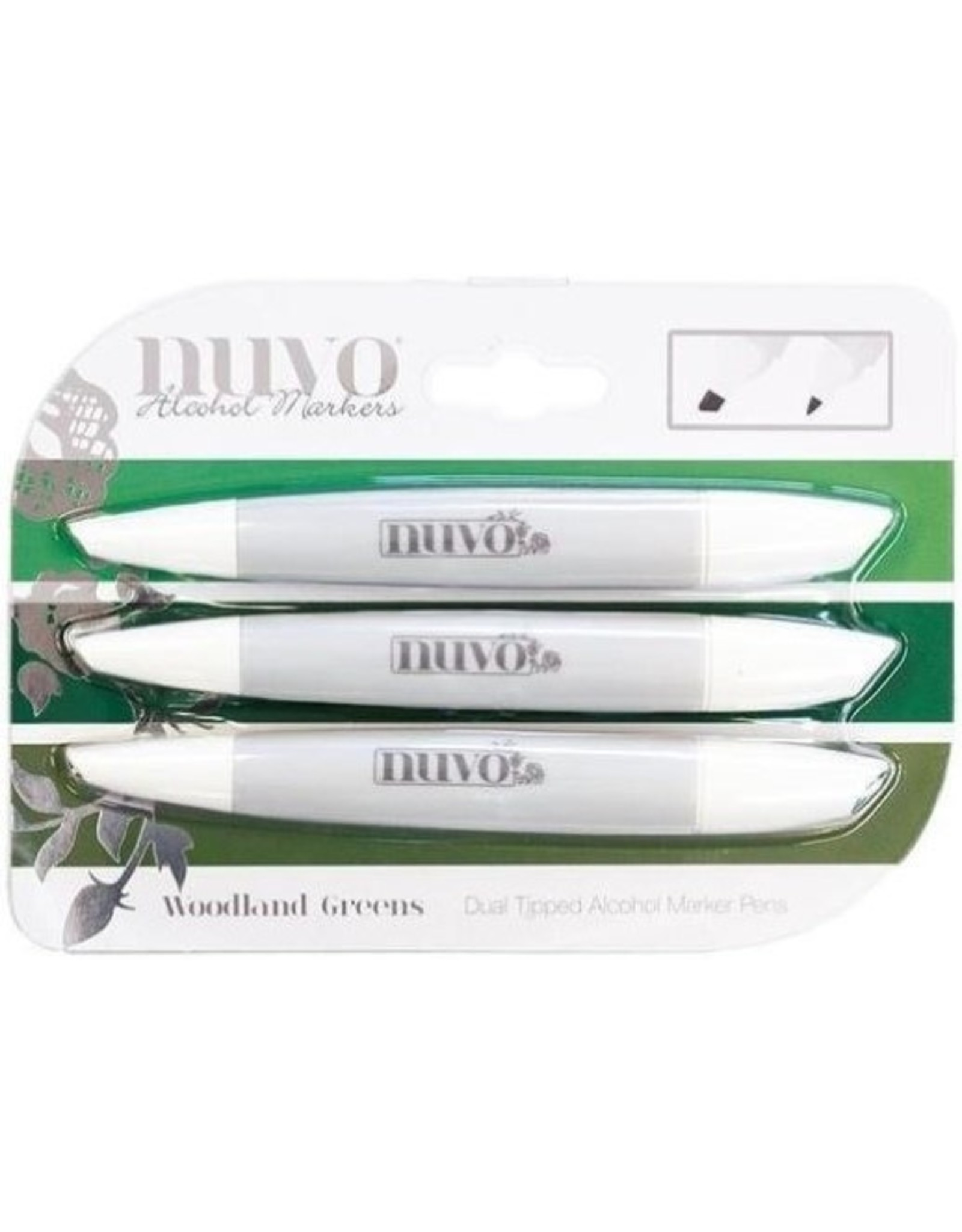 Tonic Studio Nuvo Alcohol Marker Pen Collection - Woodland Greens