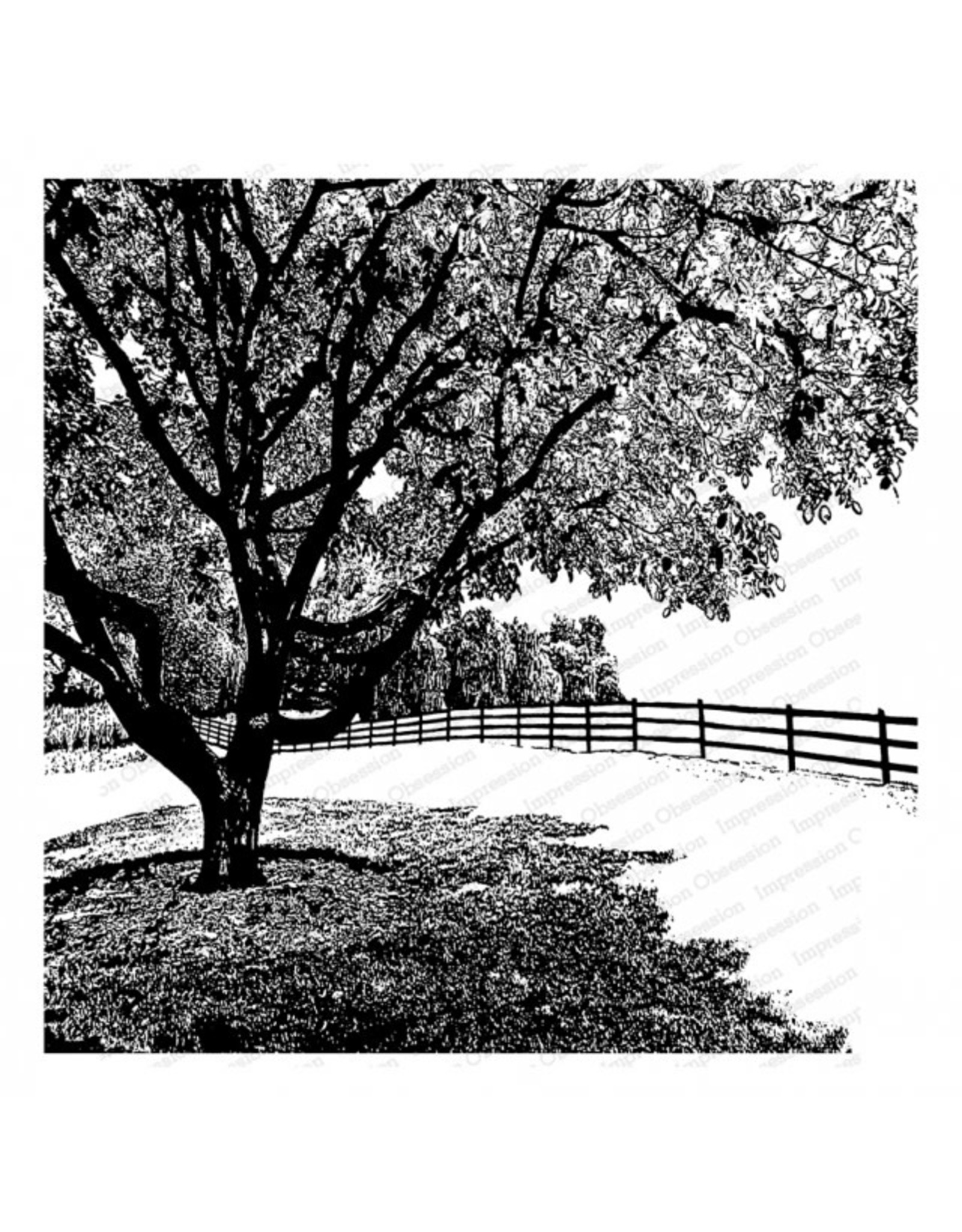 Impression Obsession Country Tree (IO) - Cling Stamp