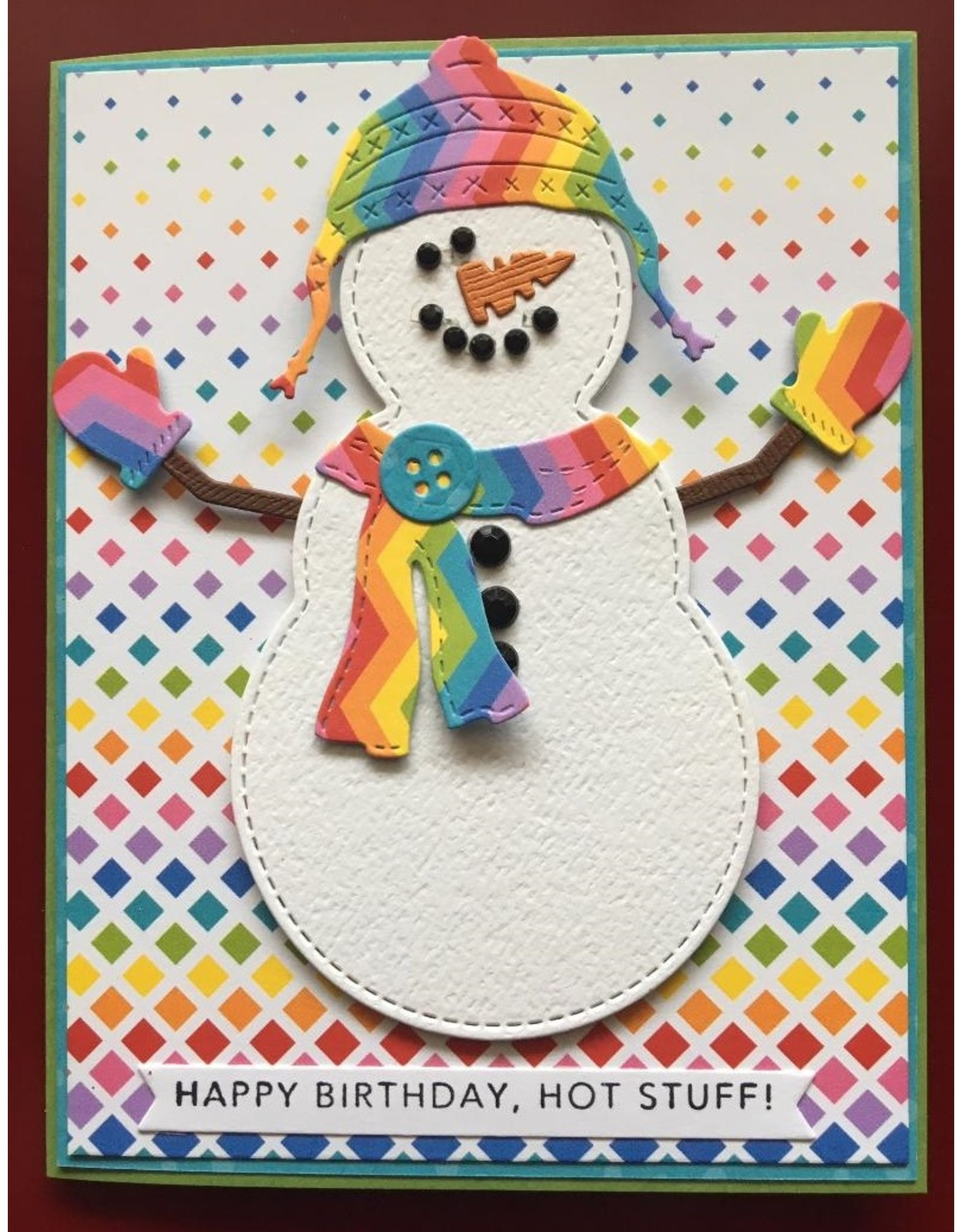 Impression Obsession Large Snowman - Die