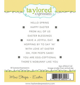 Taylored Expressions Mini Strips (EASTER) - Cling Stamp Set