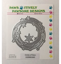 Paws-Itively Pawsome Designs Circles of Stars - Die