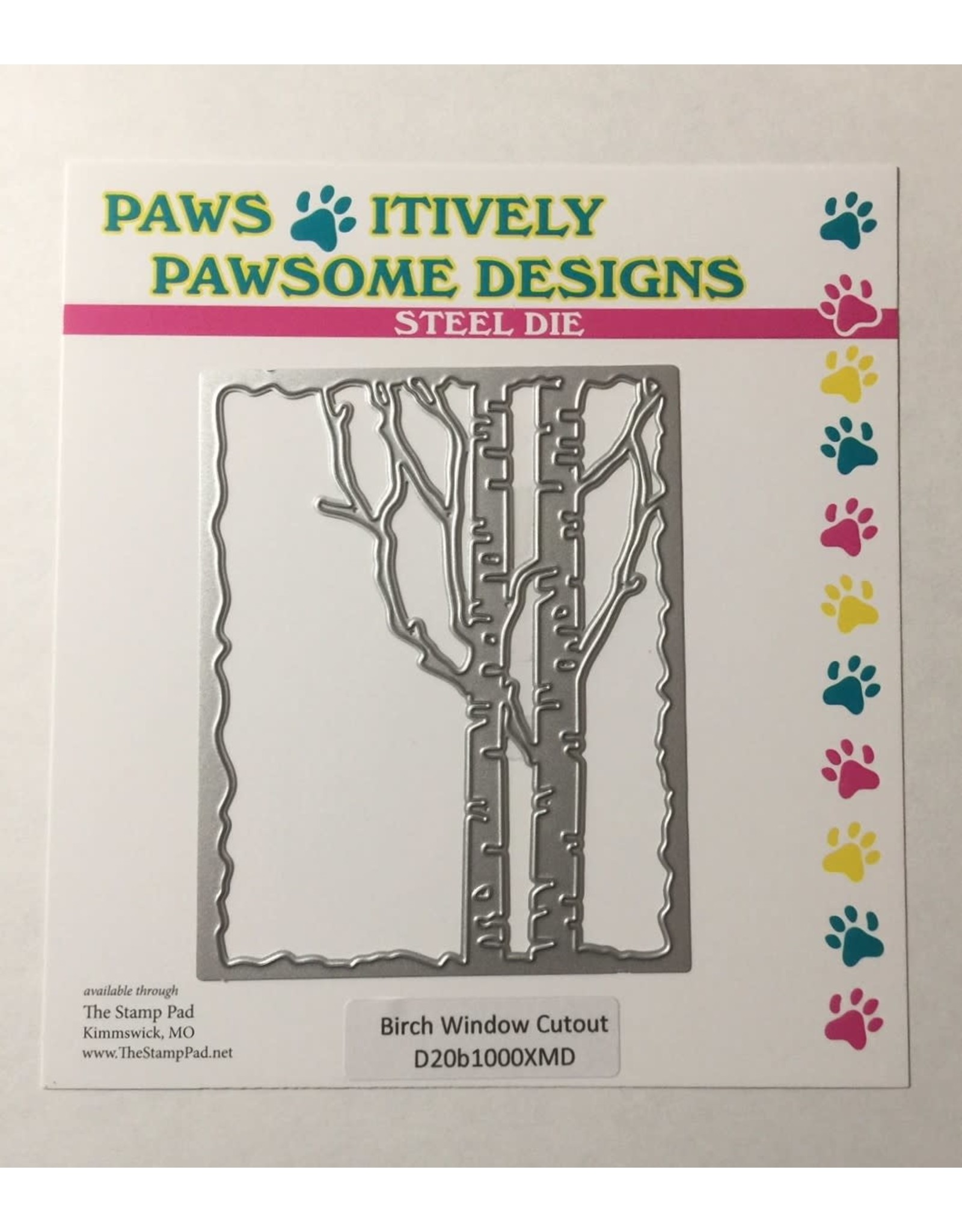 Paws-Itively Pawsome Designs Birch Window Cutout - Die