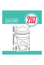 Avery Elle Peek-a-Boo Balloon - Clear Stamp Set