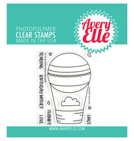 Avery Elle Peek-a-Boo Balloon - Clear Stamp Set