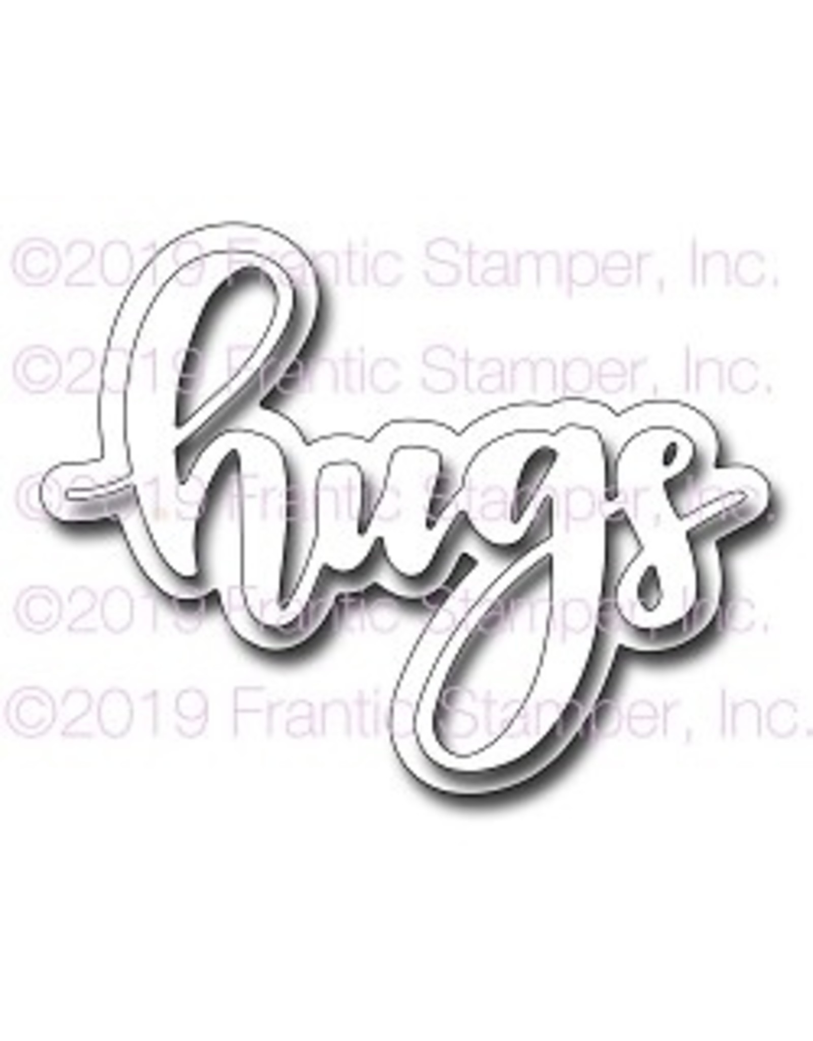 Frantic Stamper Inc Giant Layered Hugs - Die