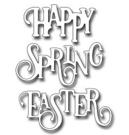 Frantic Stamper Inc Elegant Happy Spring Easter Word - Dies
