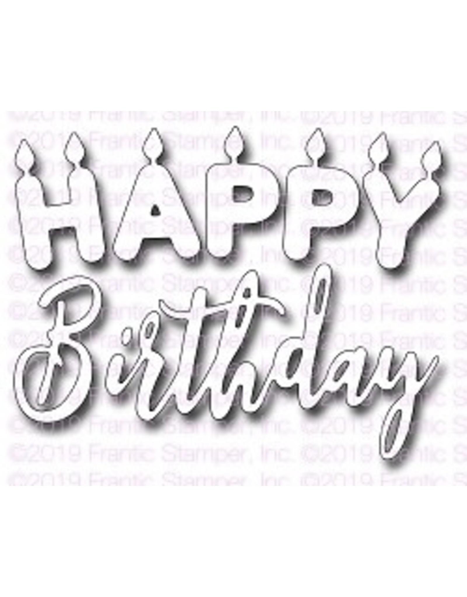 Frantic Stamper Inc Happy Birthday Candles - Die