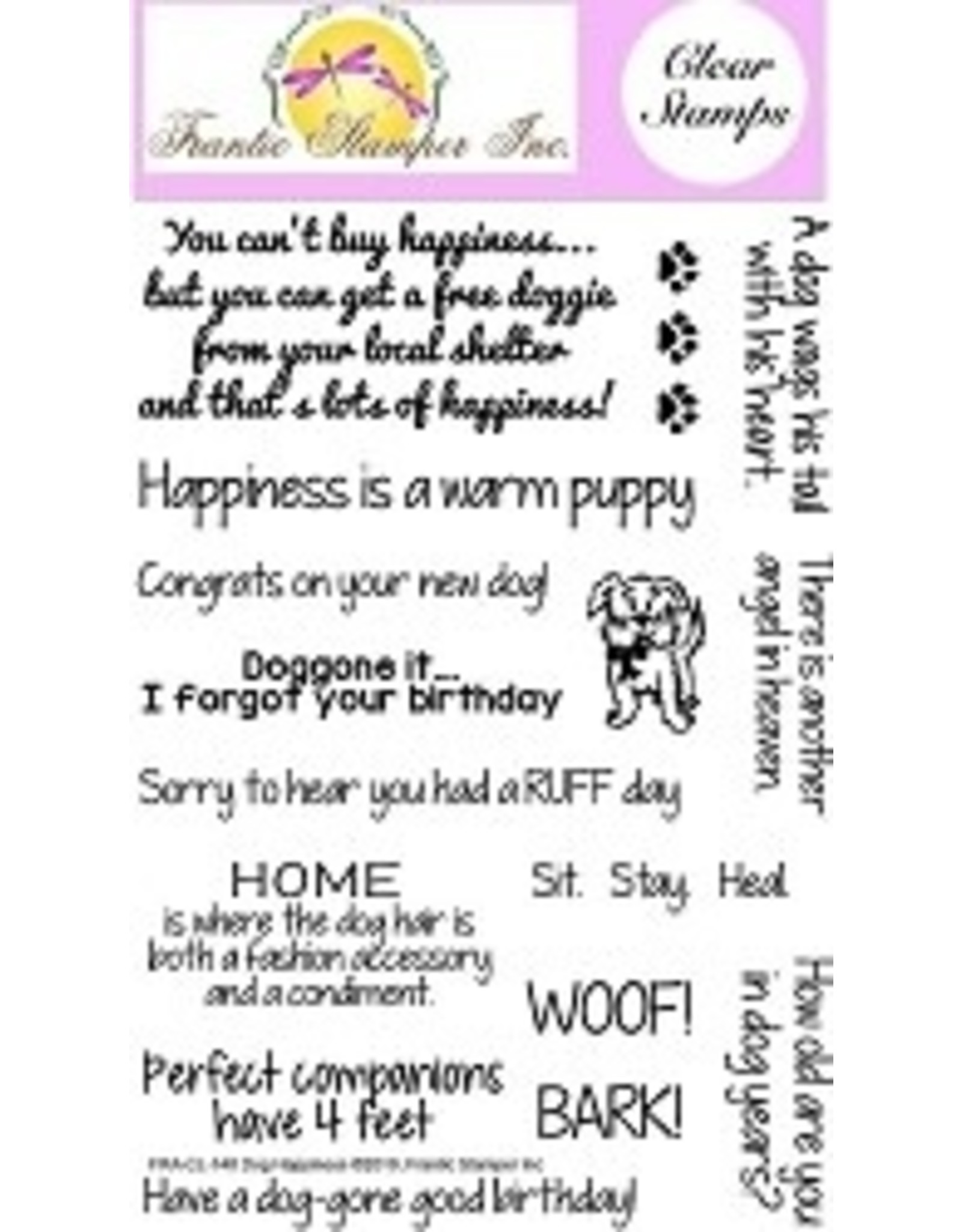 Frantic Stamper Inc Dog Happiness - Clear Stamp Set