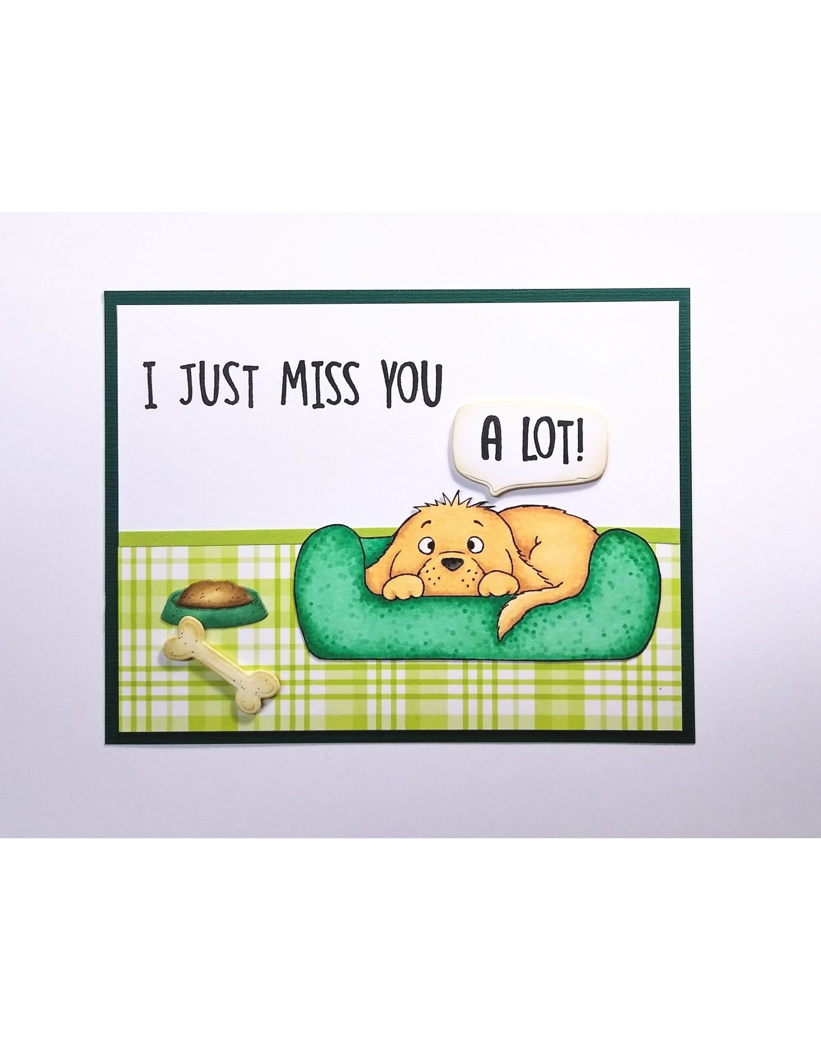 Gerda Steiner Designs I Just Miss You Puppy - Clear Stamps