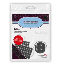 Scrapbook Adhesives 3D Foam Squares Black - 1/2 inch
